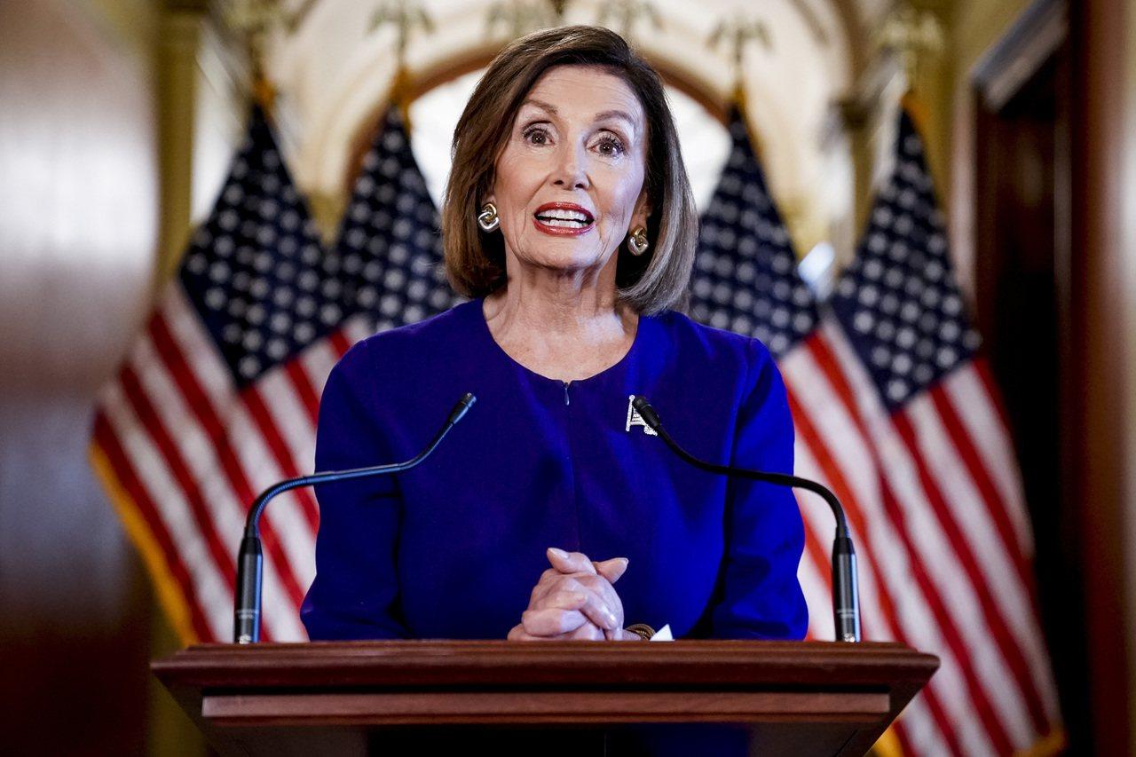 美國眾議院議長裴洛西宣布對總統川普發動彈劾調查。 美聯社