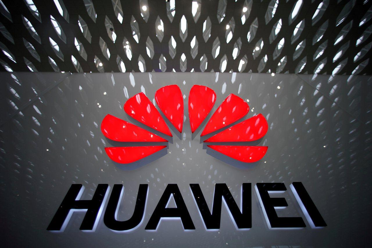 美國眾院擬以10億美元補助電信業者汰換中國大陸電信設備。圖為中國華為logo。路...