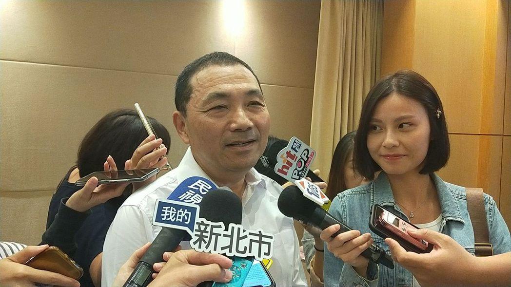 新北市長侯友宜指他的假想敵和心魔是市政做不好,不是立委蘇巧慧。記者施鴻基/攝影