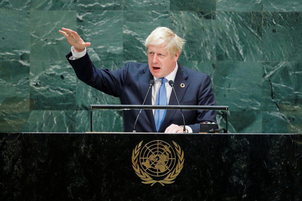 英國首相強森24日在紐約聯合國大會演說。他已提前結束在紐約的訪問,趕回英國。  ...