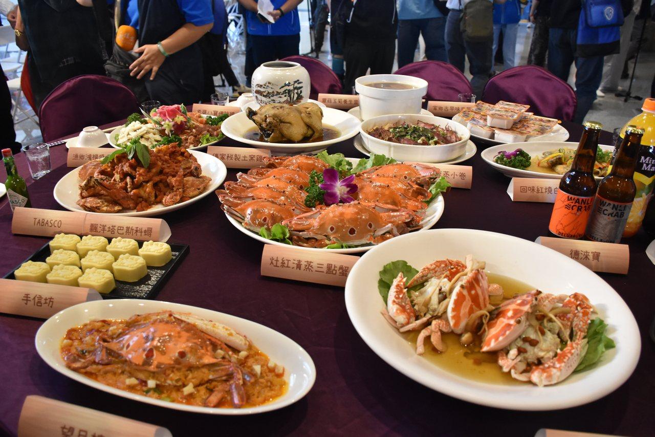 漁管處表示,今年鱻蟹宴再升級,以價值7777元供應萬里三大蟹,除了必吃原味「灶紅...