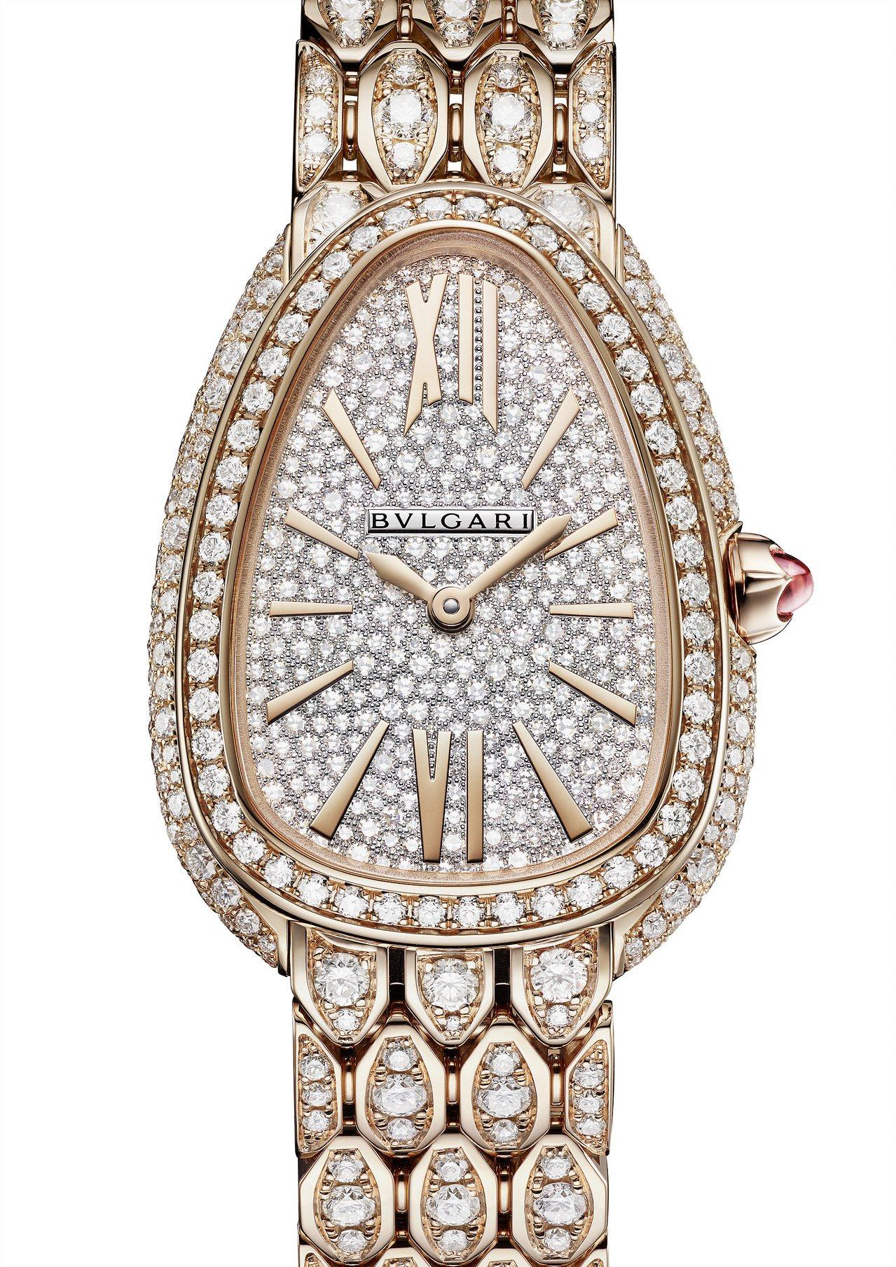 寶格麗Serpenti Seduttori系列玫瑰金腕表,18K玫瑰金表殼、表鍊...