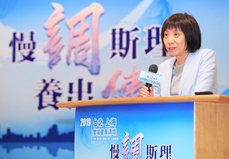 解放日報社副總編輯缪毅容(圖)也說,由兩岸最受歡迎的名醫解惑健康問題,傳播實用健...