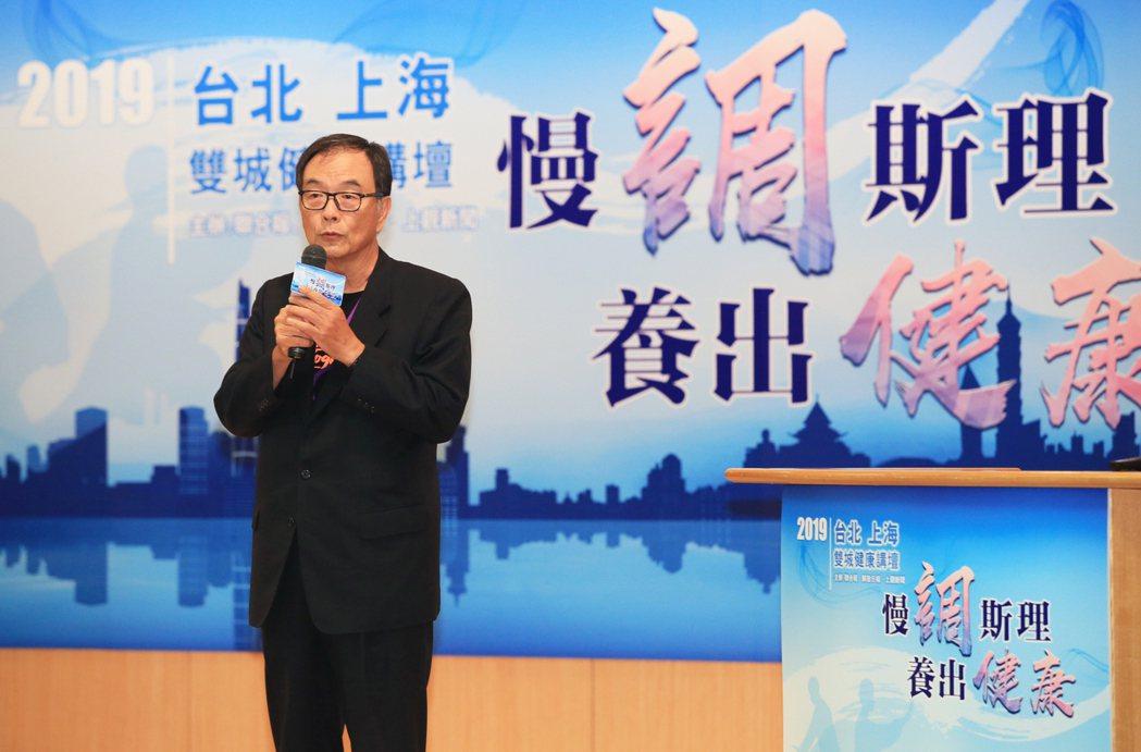 聯合報執行董事項國寧(圖)致詞表示,今年是聯合報與解放日報上觀新聞第三度攜手合作...