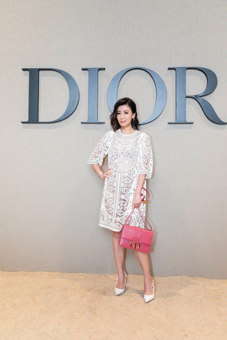 賈靜雯是DIOR 2020春夏大秀嘉賓。圖/DIOR提供