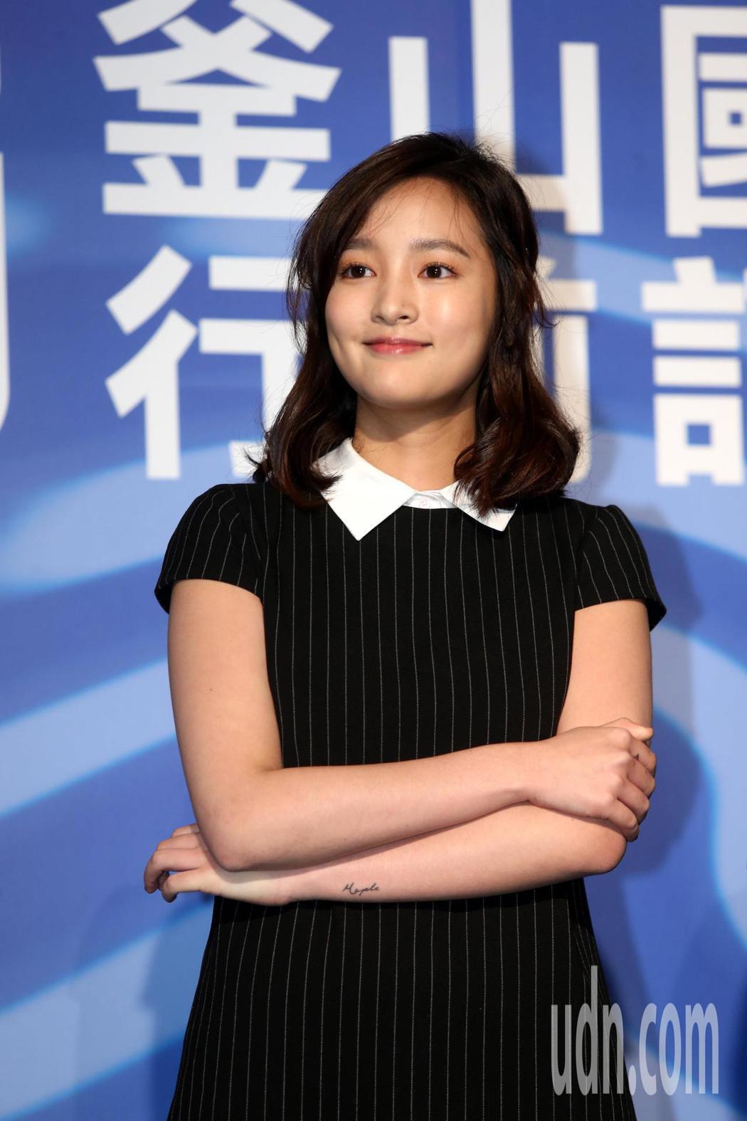2019年釜山影展行前記者會,電影返校演員王凈出席。記者邱德祥/攝影