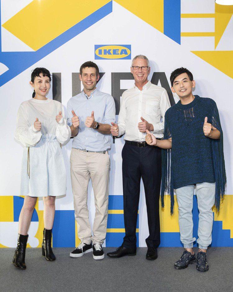 IKEA pop-up hotel快閃旅店開幕,(左起)魏如萱、IKEA北亞區副...