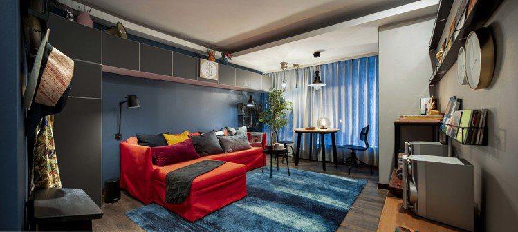IKEA pop-up hotel快閃旅店「風格男」房型由黃子佼打造。圖/IKE...
