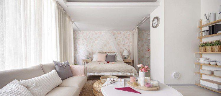 IKEA pop-up hotel快閃旅店開幕,「新婚夫妻」房是最熱門的房型。圖...