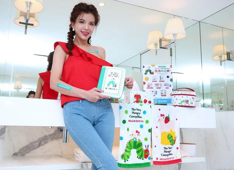 屈臣氏獨家陸續Hello Kitty X 好餓的毛毛蟲聯名商品,包括袖珍面紙、柔...