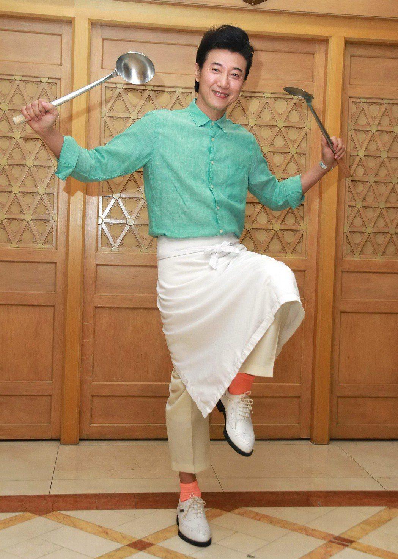 陳鴻的廚藝曾名揚國際賽事。圖/明新科大提供