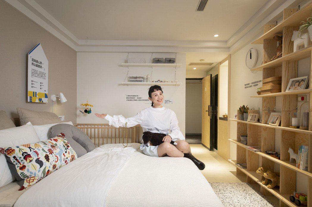 魏如萱分享自己布置的房間。圖/IKEA提供
