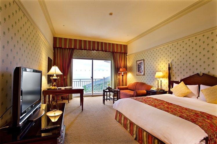 花蓮遠雄悅來大飯店精緻山景客房。圖/宜蘭力麗威斯汀提供