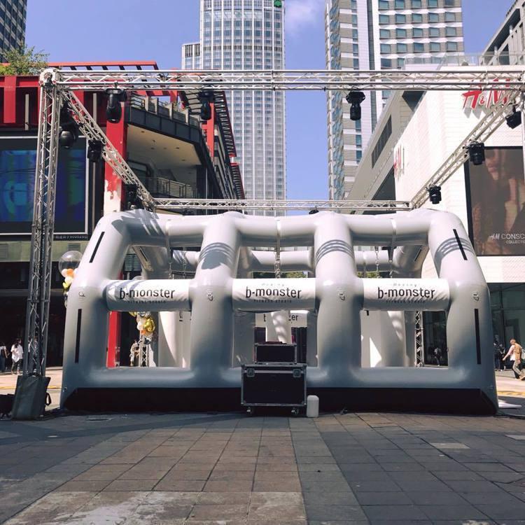 b-monster9/25起至9/27在信義香堤廣場打造訓練空間。圖/摘自新光三...