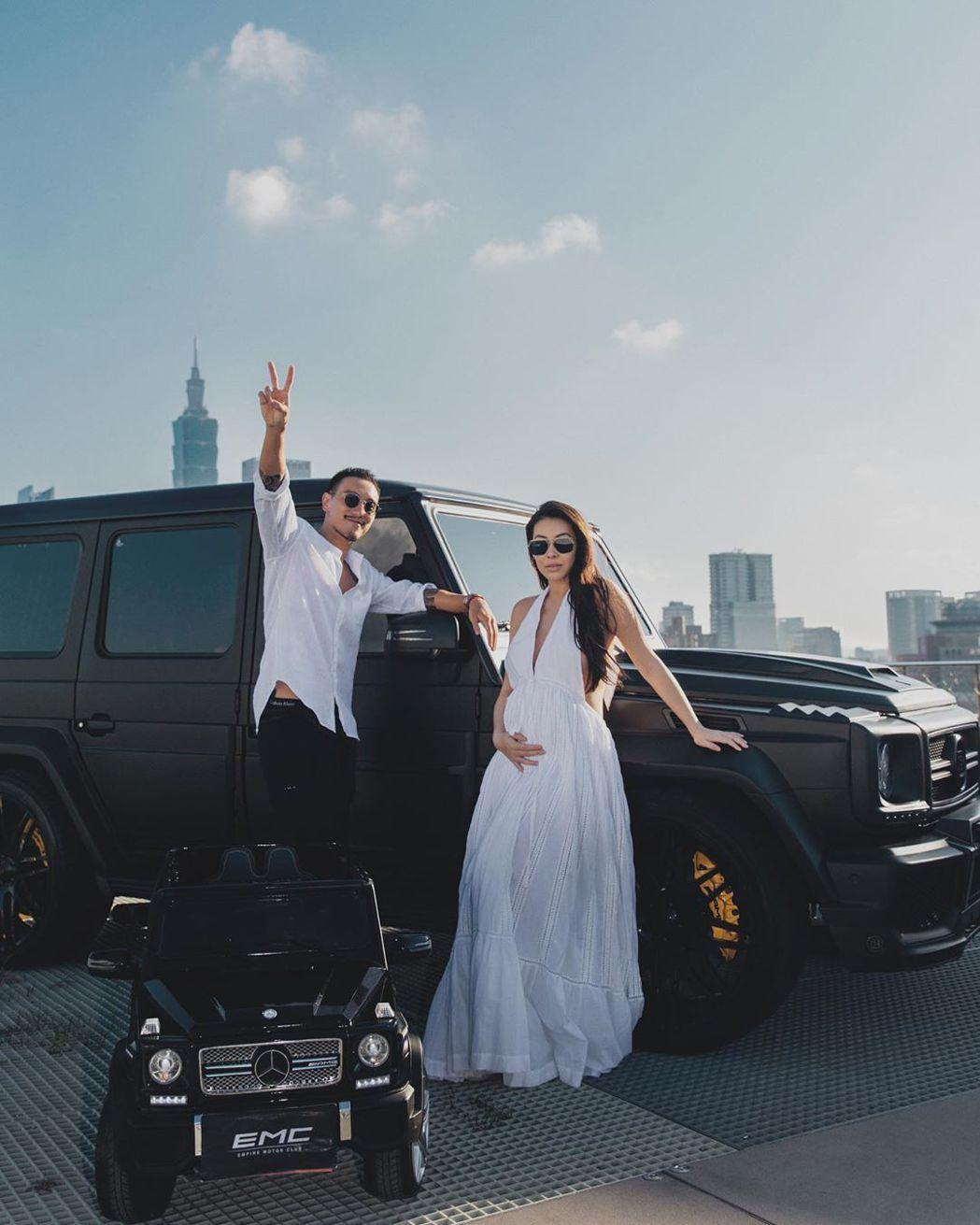王陽明與蔡詩芸結婚4年終於做人成功。圖/擷自IG