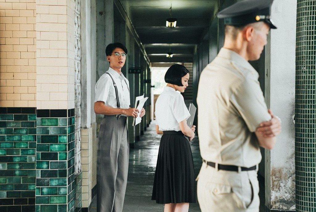 「返校」中的白教官(右),有人認為暗指韓國瑜。 圖/影一提供