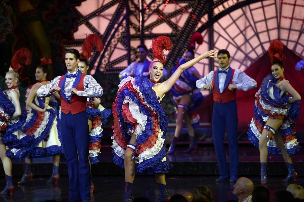 紅磨坊歷史最悠久,法國傳統康康舞也發源於此。(法新社)