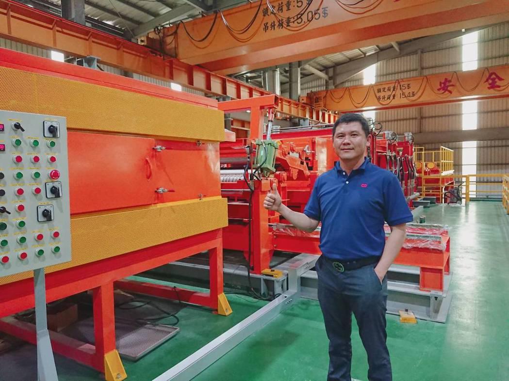 慶大樂董事長林恒茂說,藉由「家電彩塗烤漆鋼捲生產線」的建置,將與家電大廠共創雙贏...