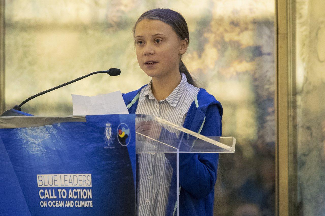 瑞典環保少女桑柏格。 美聯社