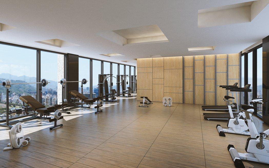 頂樓設有健身房。 圖片提供/興富發建設