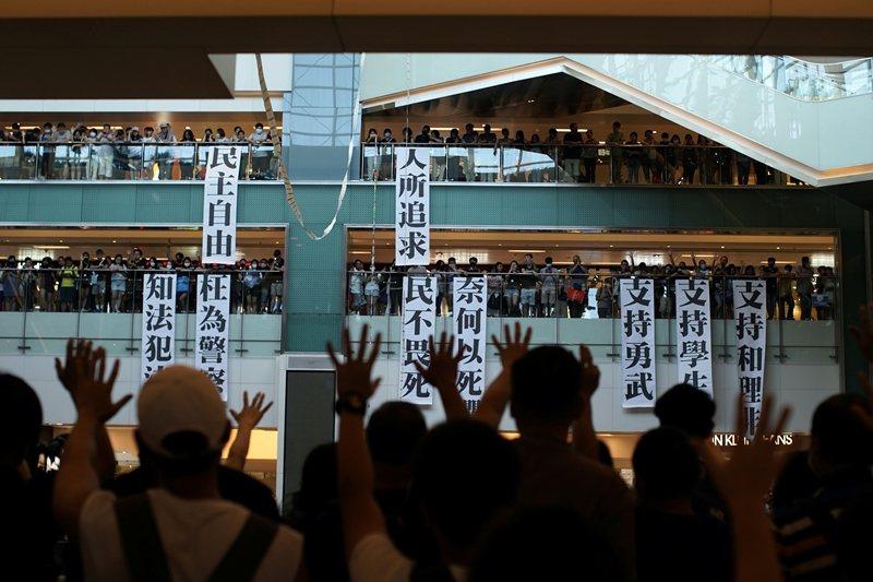 絕大部份的香港人只要求免於恐懼、自由的生活方式。 圖/路透社