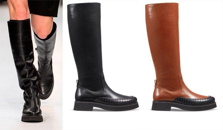 TOD'S皮革長靴演繹女性瀟灑率性。 圖/TOD'S 提供