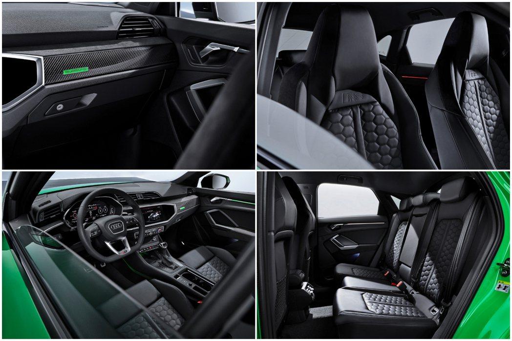 全新Audi RS Q3 Sportback 內裝特色。 摘自Audi