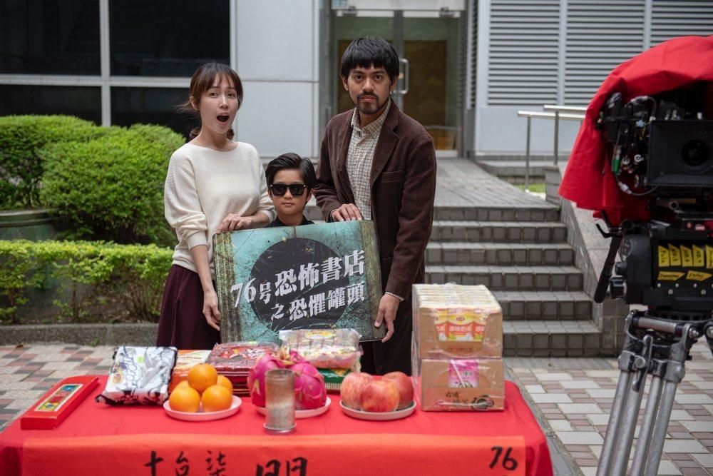 小薰(左起)、白潤音、賴澔哲合作短片「租屋」。圖/七十六号原子提供