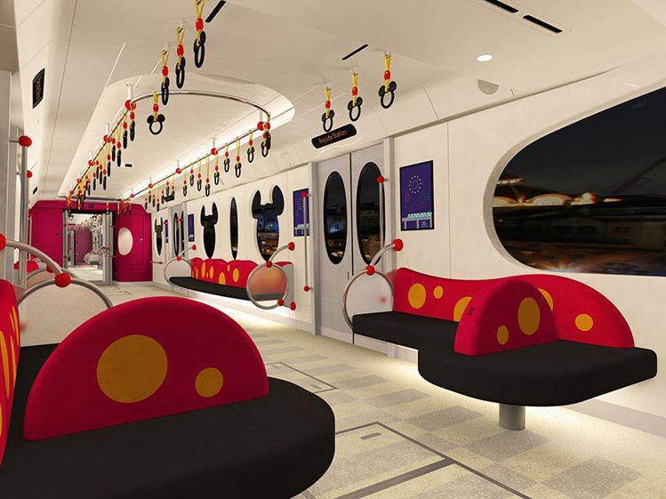 新列車中大量運用米奇身上的元素,相當可愛。圖/擷取自東京迪士尼度假區官網