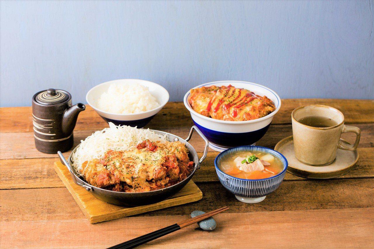 吉豚屋與明治聯手,在台推出「北海道起士蕃茄雞排丼」、「北海道起士蕃茄雞排鍋」等系...