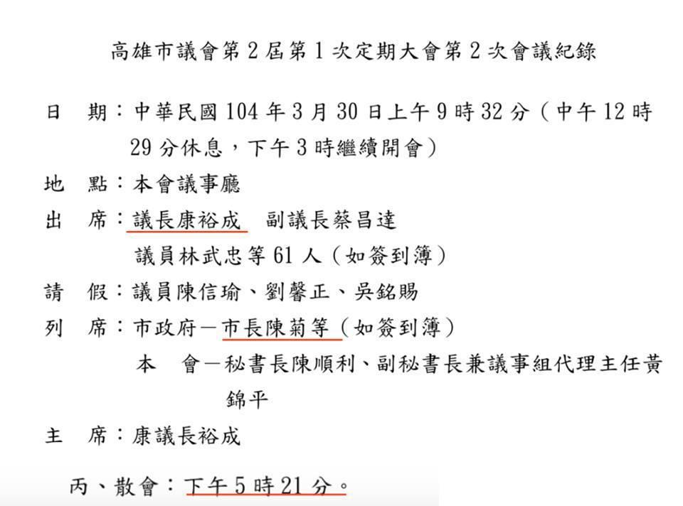 高市青工總會副秘書長李昶志指出,高雄市議會第2屆第1次定期大會第2次會議,104...