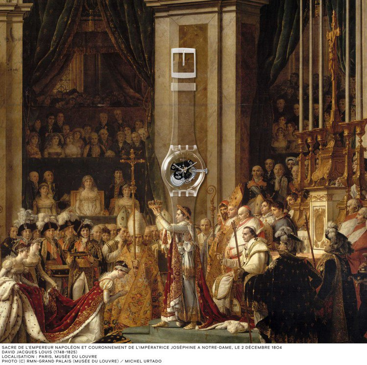 SWATCH找來法國羅浮宮合作,把經典名畫「四季」、「古羅馬景廊」和「拿破崙一世...