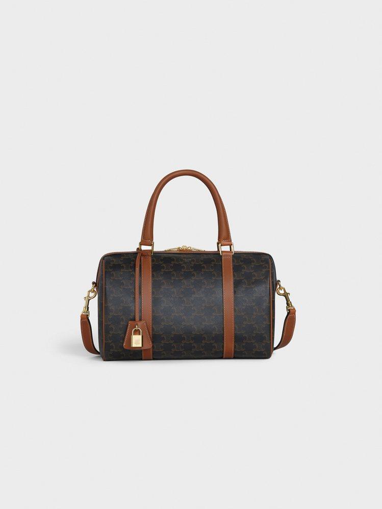 TRIOMPHE CANVAS經典花紋帆布小牛皮旅行袋,售價52,000元。圖/...