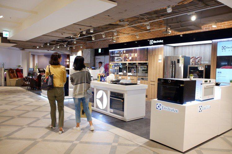 伊萊克斯全新店型進駐主打智慧家電體驗。記者江佩君/攝影