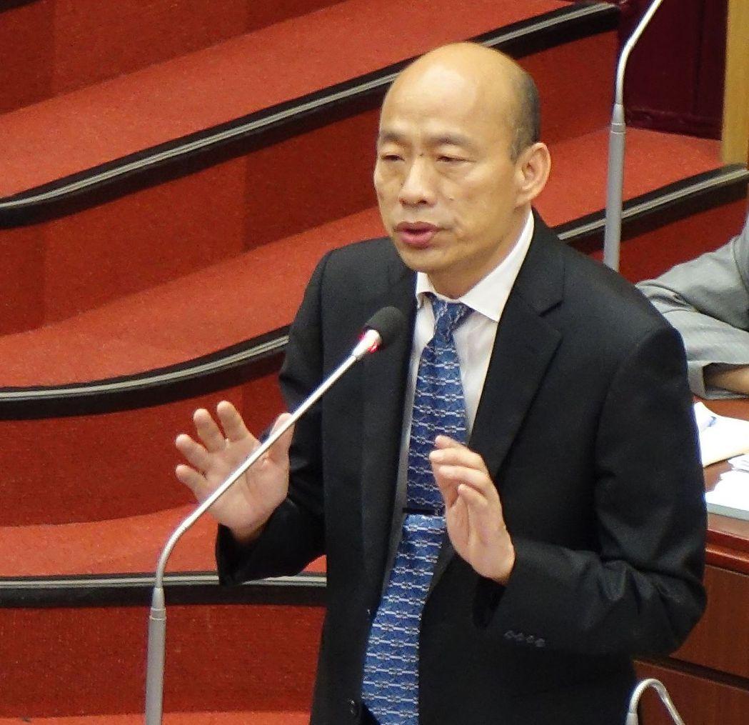 高雄市長韓國瑜要高市府機密資料全解密,議員隨時都可調閱。記者楊濡嘉/攝影
