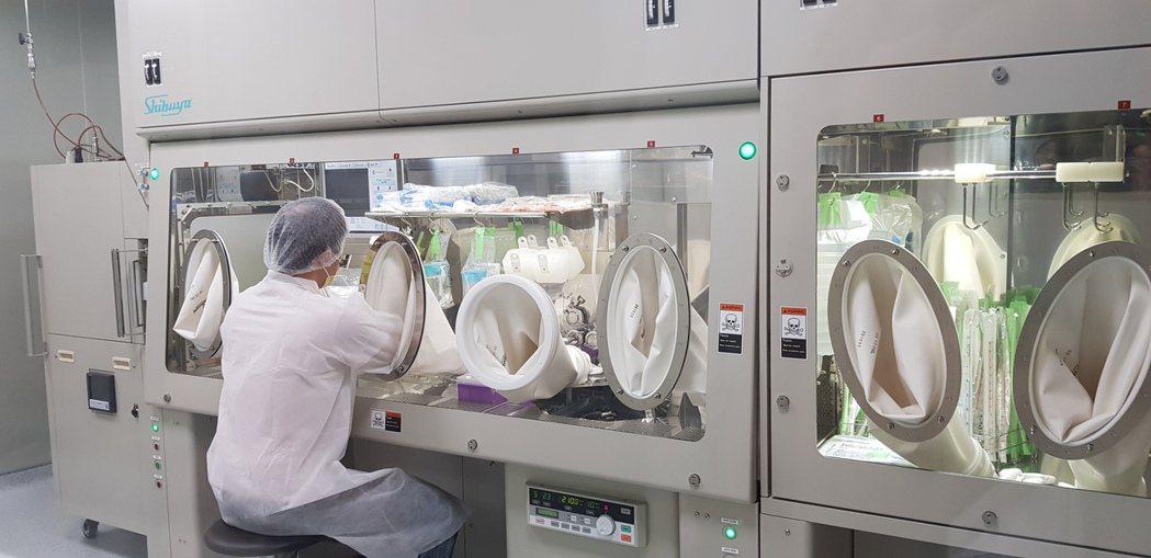 國家衛生研究院設在台南的癌症研究所內的細胞治療實驗室昨天揭牌啟用。記者修瑞瑩/攝...