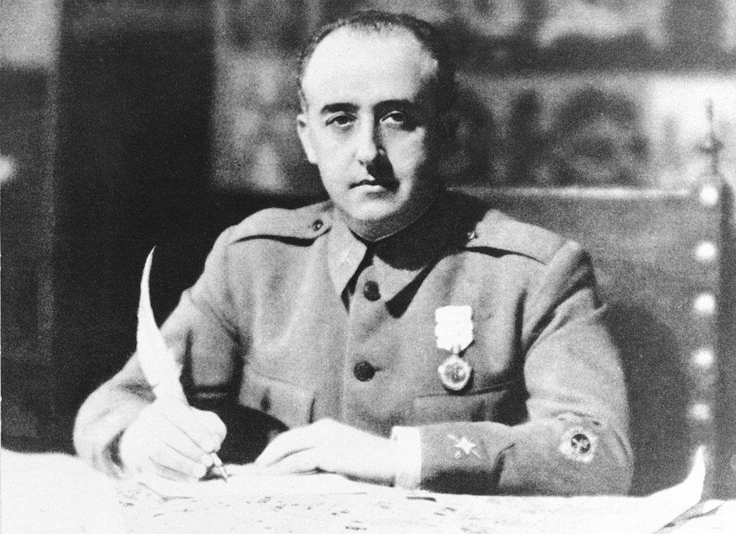 西班牙獨裁者佛朗哥將軍。(美聯社)
