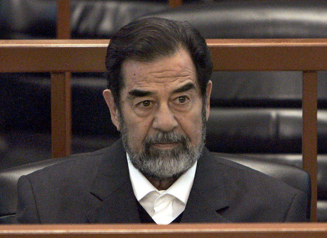 伊拉克前總統海珊2006年因違反人道罪遭處絞刑。(美聯社)
