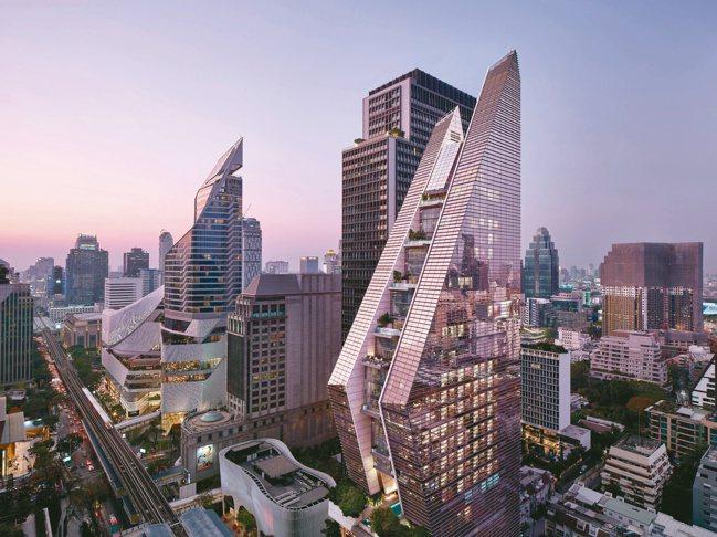曼谷瑰麗在充滿特色的建築外表下,藏著反應多元個性的洗鍊線條。 圖/Aman Re...