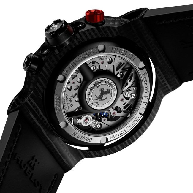 HUBLOT經典融合系列3D碳纖維法拉利GT腕表,限量500只,約84萬7,00...