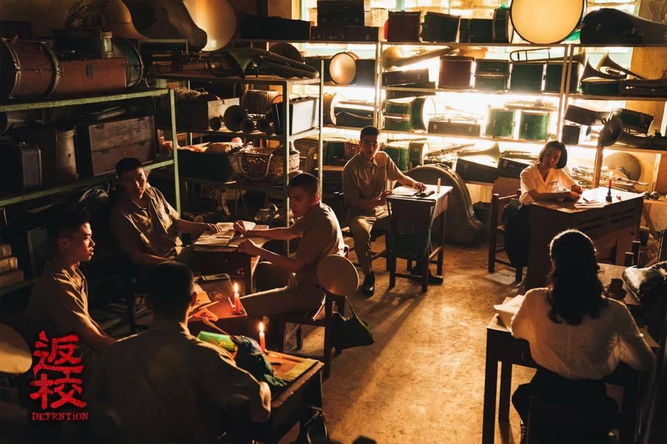 《返校》劇中的學生參加讀書會。 圖/取自返校電影版