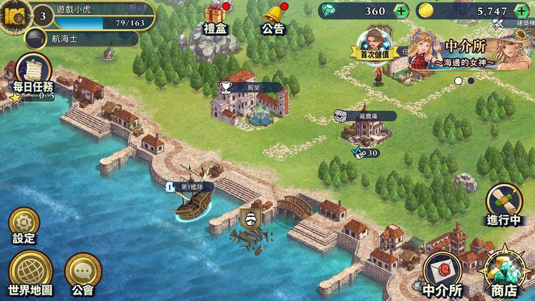 遊戲的地圖概況,可以放大縮小。