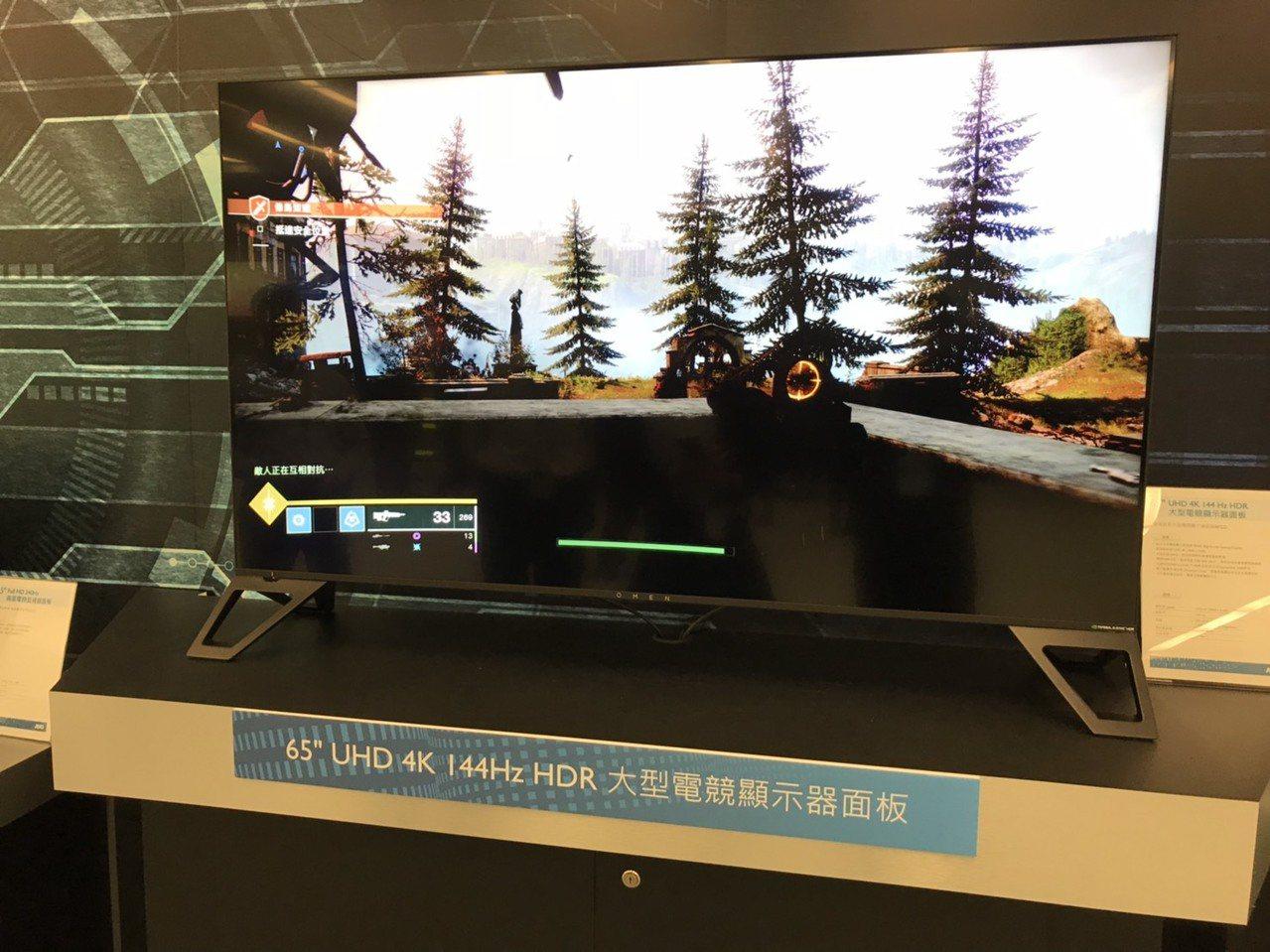 友達電競面板市占率世界第一,圖為友達電競監視器面板產品。報系資料照