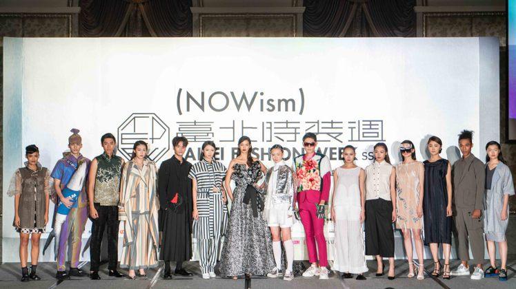 「2019台北時裝周SS20」展前記者會伊林、凱渥名模共同展演2020春夏服裝。...