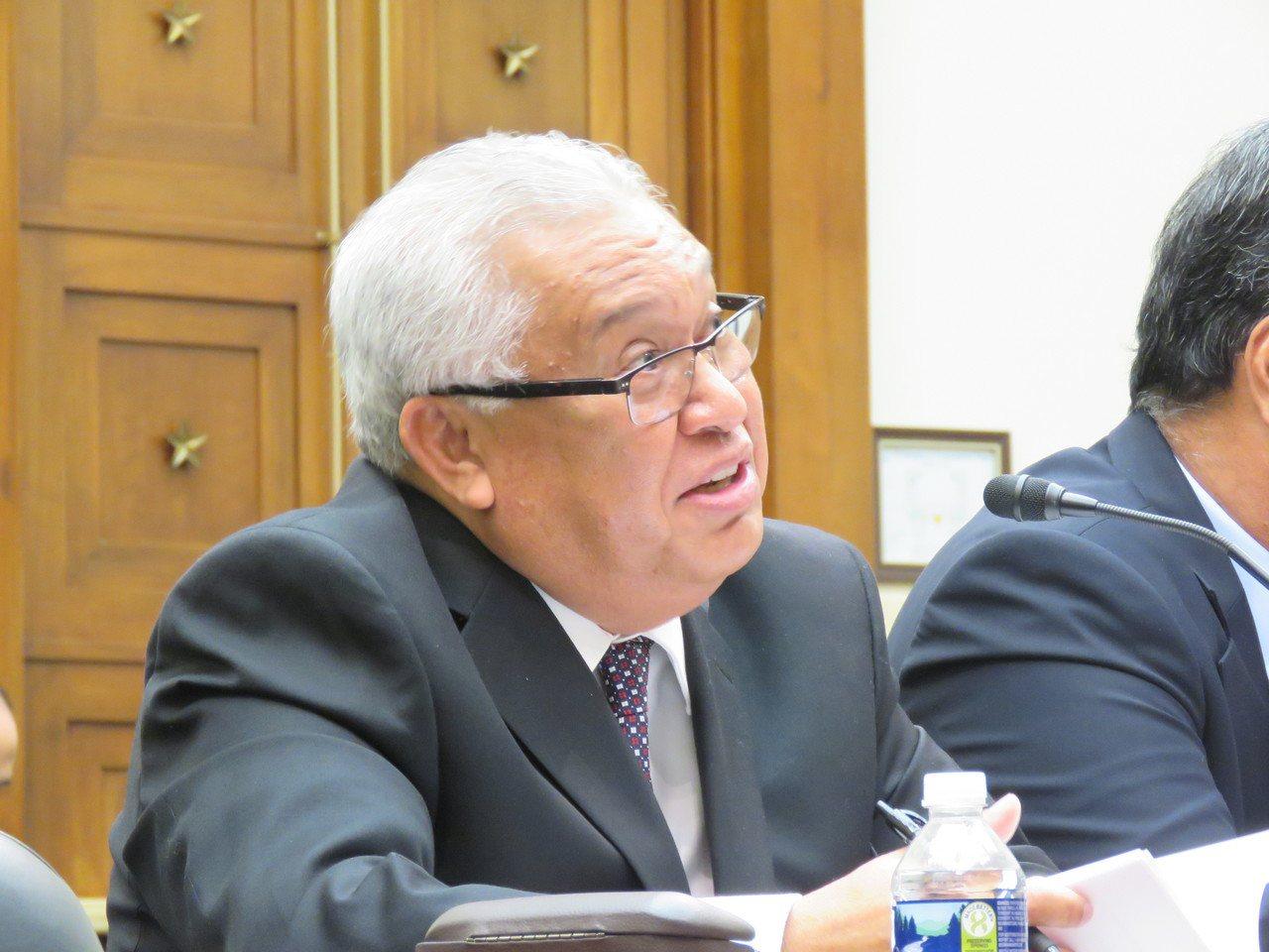 馬紹爾群島駐美大使查奇奧。 華盛頓記者張加/攝影
