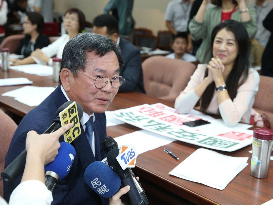 立委陳明文日前被問及高鐵上的三百萬,表示已進入司法程序不願多談。  圖/聯合報系資料照片