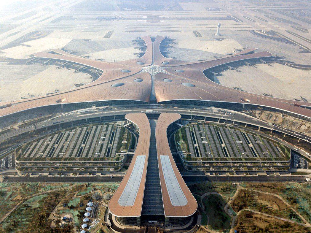 中國北京大興機場。 (新華社)