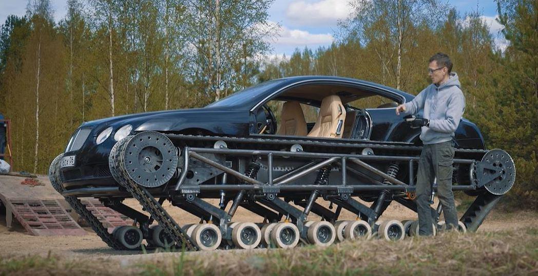 俄羅斯「賓利超戰車」計畫團隊將一輛低價購得的舊款賓利Continental GT...