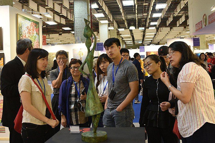 「2020國際藝術家大獎賽」入圍作品可在台北新藝術博覽會公開展出銷售。 台灣國際...