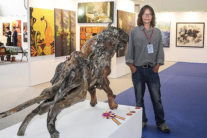 「國際藝術家大獎賽」首獎可獲台北新藝術博覽會展位。 台灣國際當代藝術家協會/提供